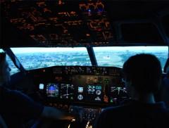 Flugzeugsimulator erleben
