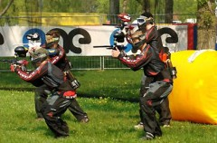 Paintball-Action im Team