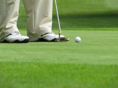 Golfspielen mit Profis