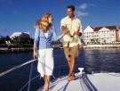 Romantische Bootsfahrt