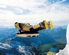 Schneeschuhtour  Freeride-Airboarding