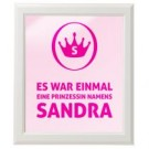 personalisiertes Wandbild - Prinzessin