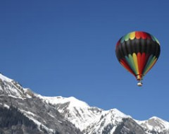 Alpen-Panorama im Heissluftballon