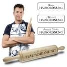 Nudelholz mit Gravur - Hausordnung
