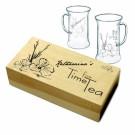 Teeglas mit Gravur im Geschenkset