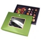 ChocoPostcard mit Schokoladenauto