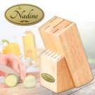 Holz Messerblock mit Gravur