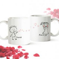 Personalisiertes Tassen Set - Liebespaar