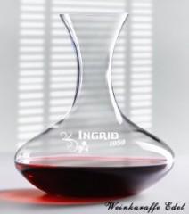 Wein-Dekanter mit Gravur