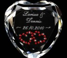 Herz Diamant mit Gravur