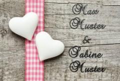 Fußmatte Romantik mit Namen