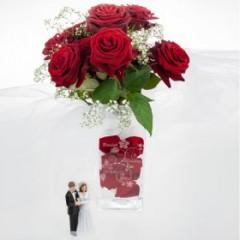 Vase mit Gravur zur Hochzeit