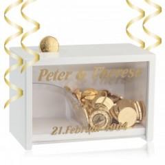 Spardose Goldene Hochzeit  zum Personalisieren