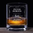 Whiskyglas 60. Geburtstag - Personalisierbar