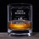 Whiskyglas 18. Geburtstag - Personalisierbar