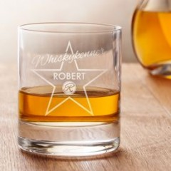Personalisiertes Whiskyglas - Star of Fame