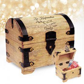 geld schatztruhe zur firmung als geschenk bei givester. Black Bedroom Furniture Sets. Home Design Ideas