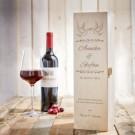Personalisierte Weinkiste - Liebestauben