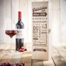 Personalisierte Weinkiste zum Abitur
