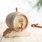 Holzfass mit Gravur Plakette