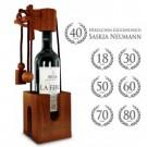 Graviertes Edelholz Flaschenpuzzle zum Geburtstag