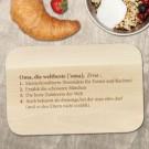 Frühstücksbrett mit Gravur - Definition Weltbeste Oma