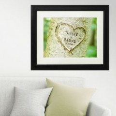 Herz im Baum - personalisiert