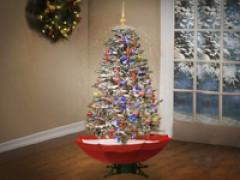 Schneiender Weihnachtsbaum.Schneiender Weihnachtsbaum Als Geschenk Bei Givester