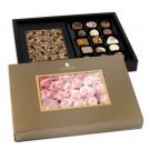 Pralinen und Schokolade in persönlicher Verpackung