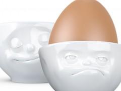 Eierbecher glücklich  mürrisch