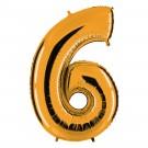 Zahlen-Ballon Gold 6