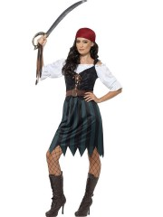 Piratin Kostüm Damen Large