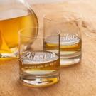 Whiskygläser mit College Motiv - Mama  Papa