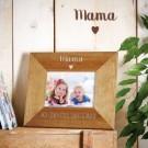 Personalisierter Bilderrahmen - Mama mit Herz