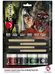 Zombie Schminke-Set mit flüssigem Latex