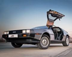 DeLorean Rundfahrt durch Dresden