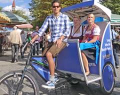 Rikscha-Tour durch München für 2 Personen