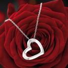 hochwertige Silber Halskette mit Herzanhänger