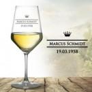 hochwertiges personalisiertes Weinglas (wei)
