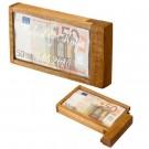 Geldgeschenkebox zum Knobeln mit individueller Gravur