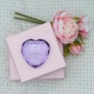 Romantischer Herz-Diamant mit persönlicher Gravur
