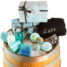 Badeset mit handgemachten Produkten für Gentlemen