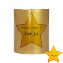 goldener Sterne-Becher für Kaffee und Tee