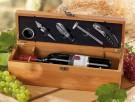 robuste Holzbox aus Bambus für Wein