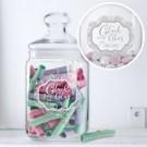 personalisiertes Glas für Süigkeiten oder Geldgeschenke