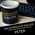 personalisierte Tasse für supergeile Leute