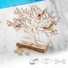 gravierter kleiner Baum für Geldgeschenke zur Hochzeit