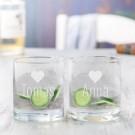 Tumbler Gläser mit Herzmotiv für Pärchen