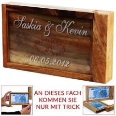 Box für Geldgeschenke mit individueller Gravur