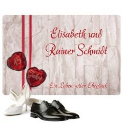 personalisierte Fußmatte für Ehepaare